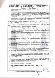 Parceria com a Prefeitura de Suzano via SMADS para execução Do SCFV TC n° 058-2018